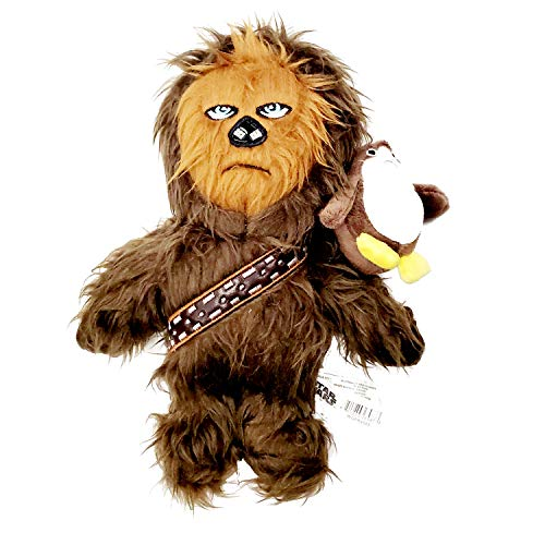 Silver Paw Star Wars Chewbacca with Mini PORG on Shoulder 10 inch Plush Dog Toy