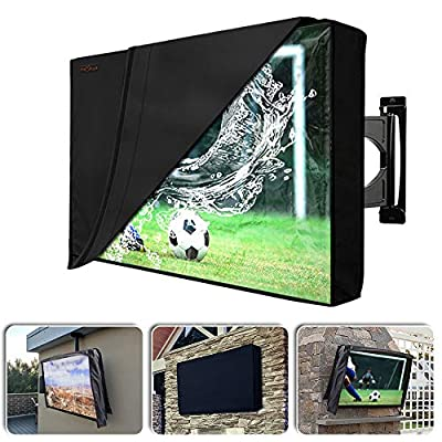 Outdoor TV Cover with Scratch Resistant Liner, ...