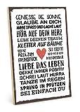 TypeStoff Holzschild mit Spruch – SEI EINFACH DU – im Vintage-Look mit Zitat als Geschenk und...