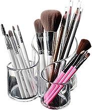 LJBH Premium Quality Clear Plastic Multi-Purpose Makeup Brush Holder Pen holder, makeup storage, desktop storage (Color : ...