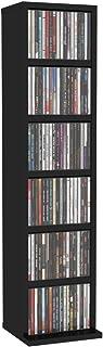 Bulufree Armario para CD, 6 Compartimentos Abiertos, estantería para CD, Unidad de Almacenamiento, estantería, Organizador...