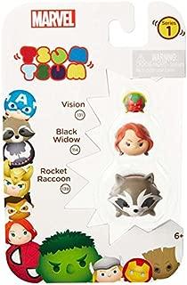 Tsum Tsum Marvel 3-Pack: Rocket/Black Widow/Vision Toy Figure