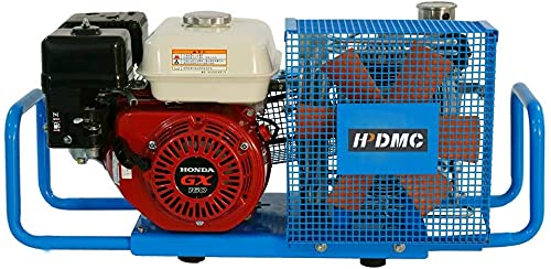 HPDMC 100L/Min Gas-Powered Air Compressor,5.5-HP Engine,4500psi High Pressure for PCP Paintball SCBA Tanks Filling (SCU100P, Petrol)