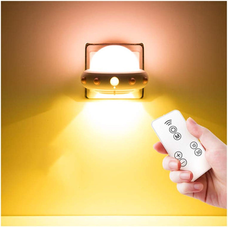 BEN-YI Schreibtisch LampNight Glühbirne Fernbedienung Tischlampe Schlafzimmer Nacht Schlaf Baby LED Energie A ++ leselampe -871Schreibtischlampen (Farbe   B, Design   Plug in)