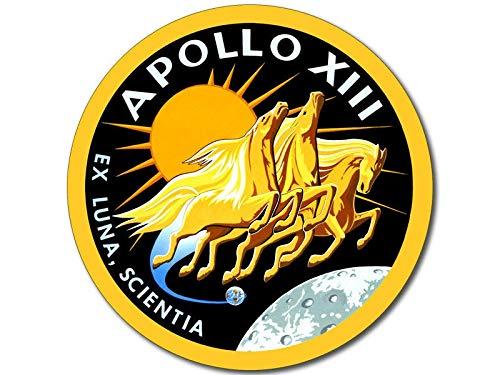 EricauBird Aufkleber, rund, Apollo 13 NASA Mission EAL, 10,2 x 10,2 cm, einfach anzubringen und zu entfernen