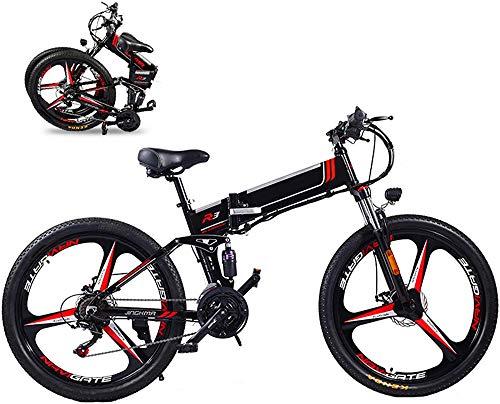 Bicicletta Elettrica, 350W elettrico pieghevole Bike 26  Bici elettrica Mountain Bike E-Bike 21 velocità 48V 8A   10A   12.8A rimovibile batteria al litio elettrici for Adulti 3 Modalità Top Speed 2