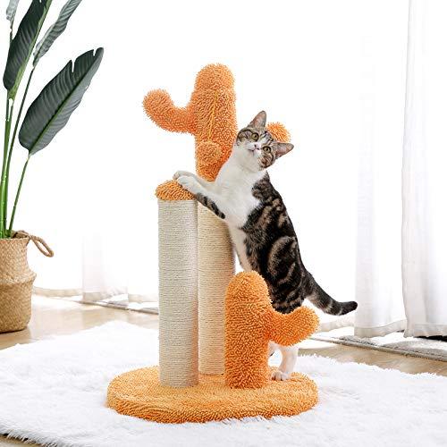 YUNDING Árbol De Gato De Estilo De Cactus Puestos De Rasguño Escalada para Gato Juguete De Salto Divertido del Gatito Casa De Gato con Pelota Juguetes Proteger Muebles(Size:L)