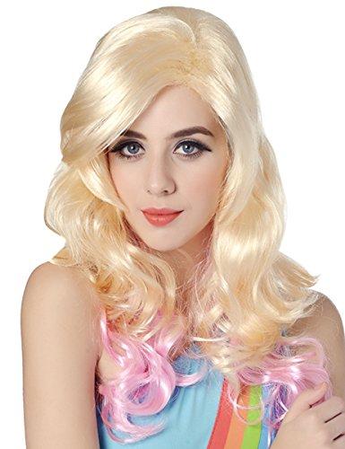 Generique - Perruque Glamour Blonde et Rose Femme