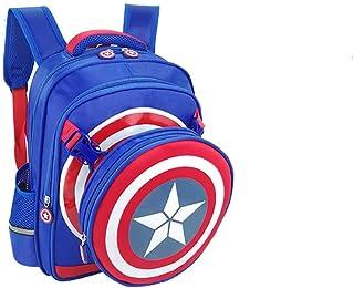 Adecuado para guardería, clase media, clase preescolar, mochila con patrón de superman para niños y niñas, reduce la carga