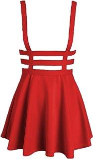 Bluetime Womens Pleated Short Braces Skirt (S-3XL)