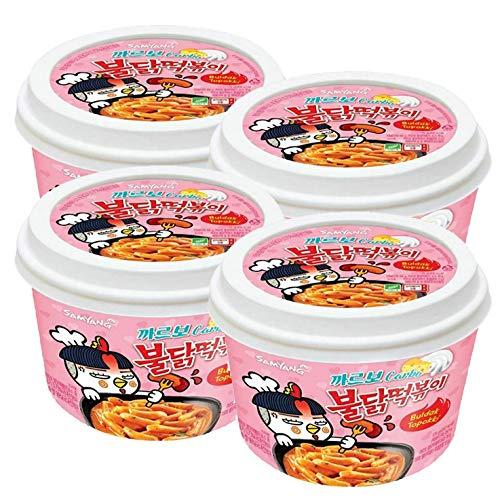 Samyang Scharfes Hühnchen Tteokbokki Reiskuchen Carbonara (4 Stück)