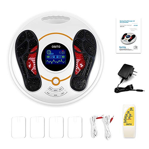Medical Foot Massager Machine (Upgrade) - Feet Legs Circulation Devices Using EMS and TENS Stimulator, Electrical Muscle Pulse Massage Therapy, Electric Foot Reflexology, Relieve Pain for Neuropathy