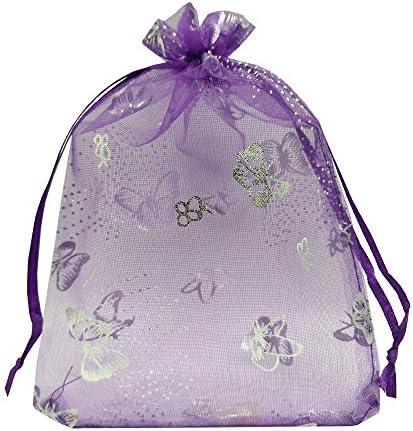 Butterfly bracelets favors in organza bags Garden birthday supplies