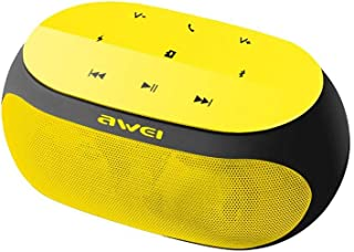 Awei Y200 Super Bass Portable Wireless Bluetooth Speaker with Radio - Yellow
