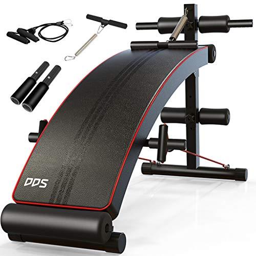 Lxn Verstellbare Sit-up Bank, Ultimative Fitnessgeräte, ergonomisches Design, über 180 ° Dehnung, 360 ° Drehung