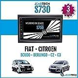 ICARTECH 7 Autoradio DVD Player für Citroen (C2, C3, C3 Pluriel, Jumpy, Berlingo), Fiat Scudo, Peugeot (207, 207CC, 307) Das bärenstarke Android 4.1 Radio mit GPS...