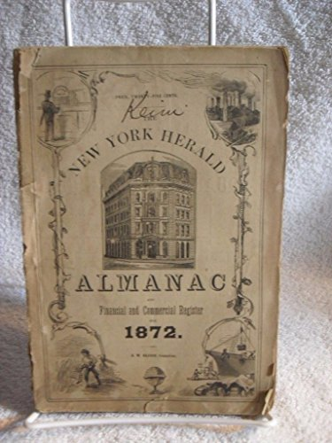 Antique 1872 New York Herald Almanac and Financial and Political Register Rare
