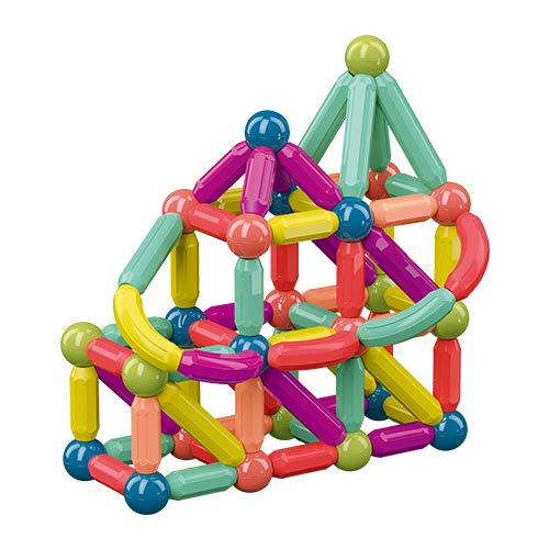 Jofarstep   42PCS Magnetic Balls and Rods Set, Magnetic Building Set, Magnetic Balls and Sticks - Featuring Safe, Extra-Strong, STEM Stacking Toys for Boys & Girls 3+