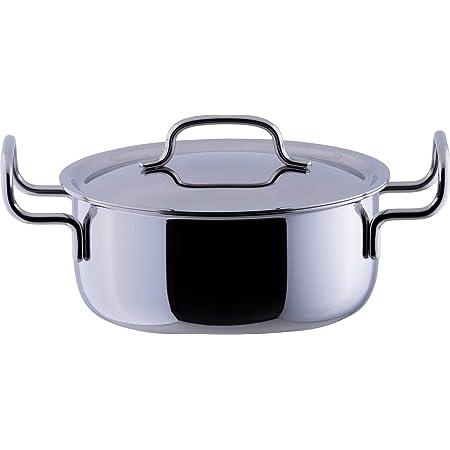 宮崎製作所 ジオ 両手鍋 20cm 日本製 IH対応 オール熱源対応 15年保証 GEO-20T