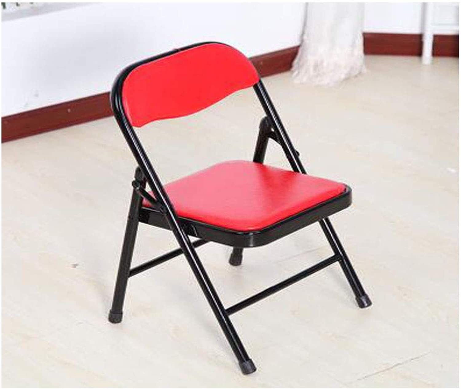 Folding Chair, color Portable Backrest Metal Chair, Suitable for Primary School Students to Learn to Write, Multi-color Optional Refinement