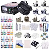 ReaseJoy Complete Tattoo Kit 8 Machine 40 Inks Power Supply 10 Wraps Gun Needle Grip Tip Foot Switch