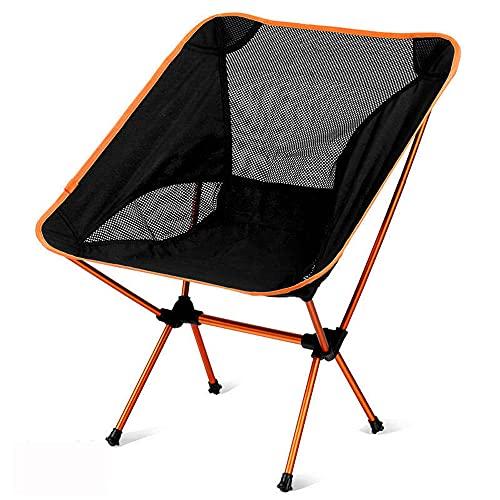 Silla de camping plegable ultraligera, silla de senderismo portátil,al aire libre, compacto para el campamento al aire libre, pesca, playa, senderismo, caza, viaje, bolso transporte incluido,Amarillo