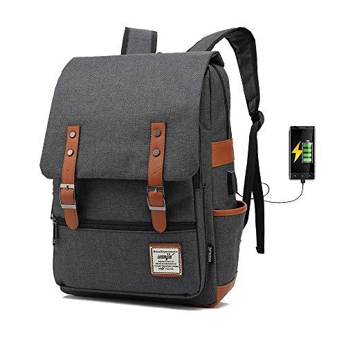 j015 15.6inch Computer Bag Casual Unisex Waterproof Oxford School Backpack Women/Men School Backpack Rucksack (Black)