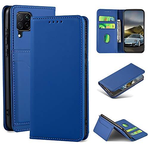 iLovecover Handyhülle für Huawei P40 Lite/Nova 6 SE/Honor 7i (6.4 Zoll) Hülle,Premium Leder Flip Schutzhülle Leder Wallet Tasche Klapphülle glatt Silikon Bumper Handytasche,Rot