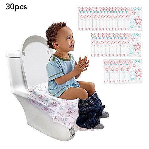 Lolypot Copriwater USA e Getta Coprisedile per WC Copri WC Pacchetto Singolo Dimensione Universale Coprisedili per WC Portatile Impermeabile per Adulti, Bambini (30 PCS)
