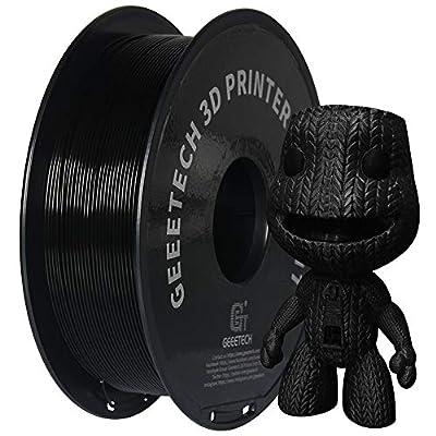 PLA Filament 1.75mm Black, GEEETECH New 3D Printing Filament PLA for 3D Printer and 3D Pen, 1kg 1 Spool…