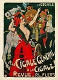 Kunstdruck A la Cigale General Grün Revue Flers Kutsche