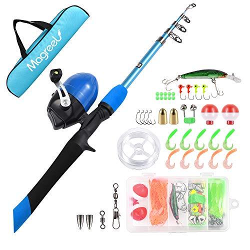 Magreel Kids Fishing Pole, Portable...