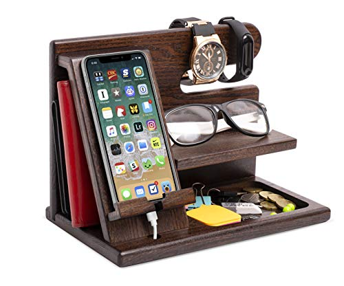 A wood docking station is just the right gift for dads who want nothing for Father's Day gifts