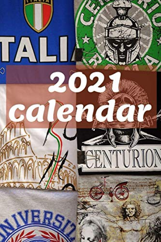 2021 calendar: ideal Italian pattern planner, for Christmas or Birthday gift, perfect daily, handy notebook
