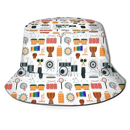 136 Instrumento Musical Bebé Juguetes Rosa Sol Sombrero Transpirable Cubo Sombrero Sombrero De Verano Jugar Sombrero
