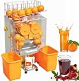 VEVOR 40-80mm/22-30 Per Minute Electric Juicer Commercial Orange Squeezer Machine Stainless Steel, Plastic tank