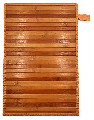 Eurostyle - Alfombra de bambú con base antideslizante Degrade (50 x 370 cm), color naranja