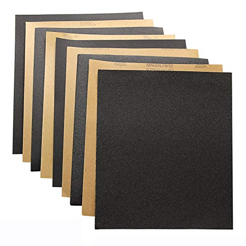 36-Sheet 60 To 2000 Assorted Grit Sandpaper for Wood Furniture Finishing/Metal Sanding and Automotive Polishing | Wet or Dry Sanding, 9 x 11 Inch