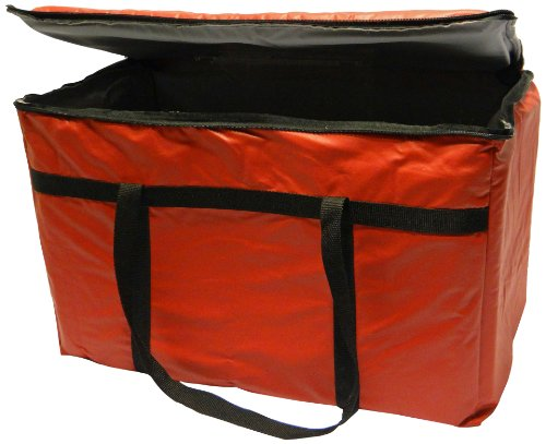 Phoenix 13-Inch by 22-Inch by 10-Inch Insulated delivery bags, Red