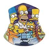 FaceGuard Simpsons-TV-Series Calentador de Cuello de Microfibra multifunción Unisex