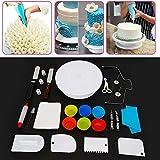 Juego de 94 platos giratorios para tartas, para decoración de tartas, juego de tocadiscos para casa, kit de fabricación artesanal