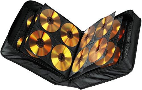 Hama CD Tasche mit Pflegetuch für 304 Discs / CD / DVD / Blu-ray (Mappe zur Aufbewahrung , platzsparend für Büro, Wohnzimmer und Zuhause, Transport-Hüllen) Schwarz