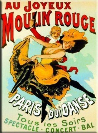 PLAQUE 20X15cm AFFICHE RETRO MOULIN ROUGE PARIS 2