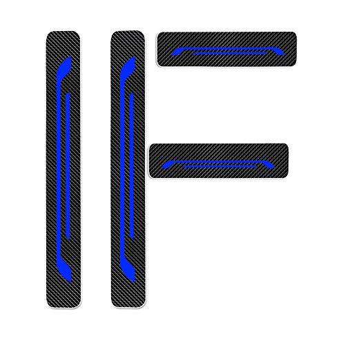 Einstiegsleiste Schutz Aufkleber Reflektierende Lackschutzfolie für MII Lbiza5/SC/ST/CUPPA Toledo Ateca Leon/5/SC/ST/Cuppa/Puertas/Eperience Alhambra Einstiegsleisten Blau 4 Stück