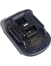 Alianstore DM18M converter adapter compatibel met Makita 18V 20V Li-Ion batterij, adapter compatibel met Dewalt en Milwaukee M18 converteren naar Makit.a BL1830 BL1840 BL1850 batterijen (USB 5V 2.1A poort)