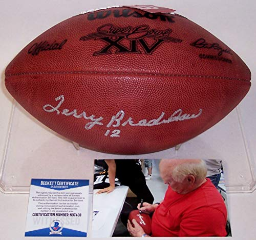 Terry Bradshaw Pittsburgh Steelers NFL Hand Signed Official Football