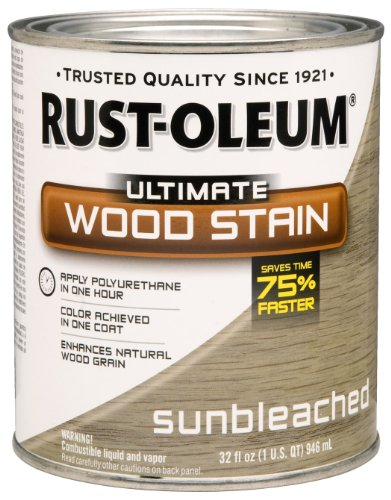 Rust-Oleum 260155 Ultimate Wood Stain, Quart, Sunbleached