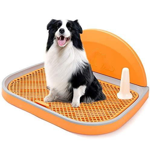 Hmpet Inodoro para Perros Bandeja De Basura Cajas De Arena para Perros Soporte para Almohadilla De Entrenamiento para Cachorros De Interior Entrenador Portátil para IR Al Baño para Perros