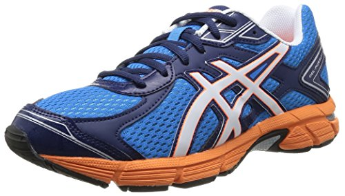 ASICS Gel Pursuit 2 - Zapatillas de running para hombre, Azul (Blue/White/Flash Orange), 46.5