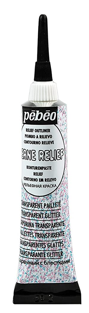 Pebeo 775020 Cerne Relief 20 ml Transparent Glitter